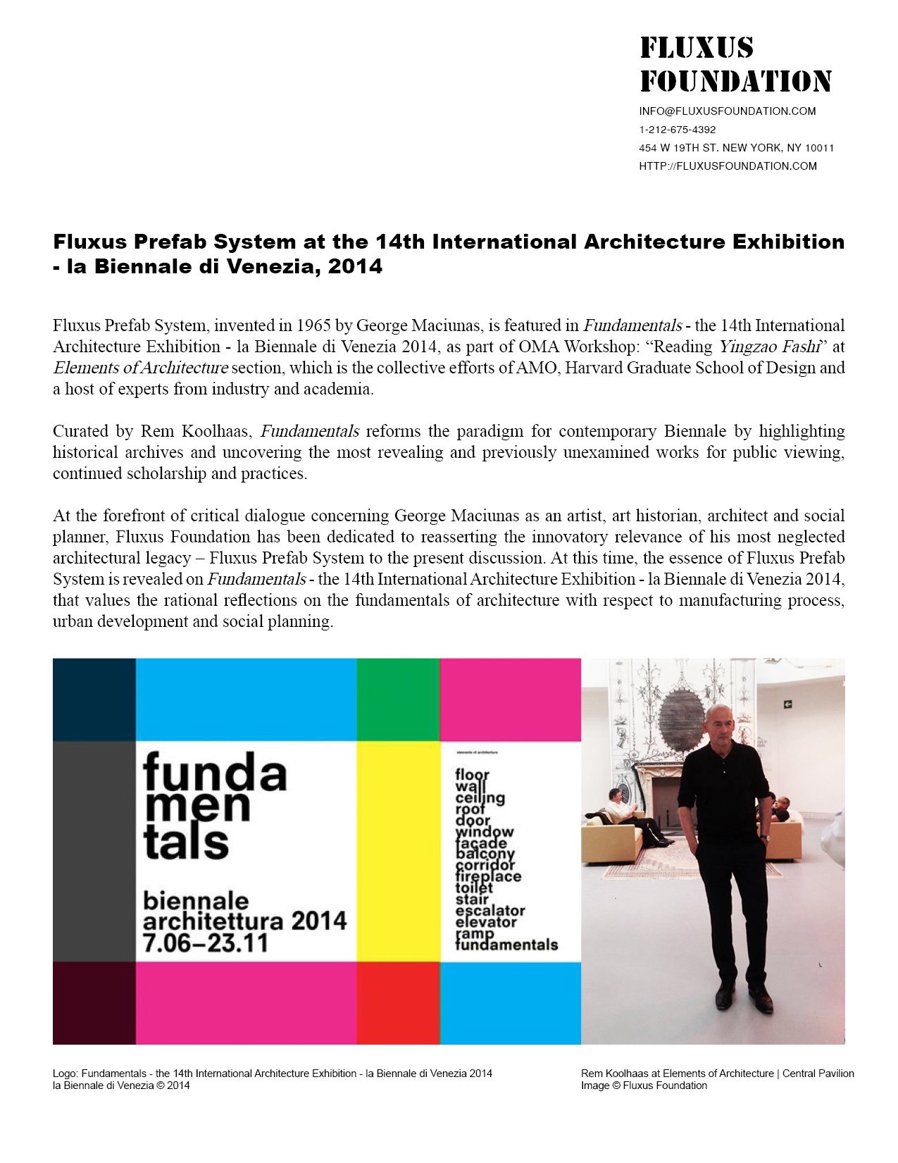 Newsletter_20140617_Fluxus Foundation