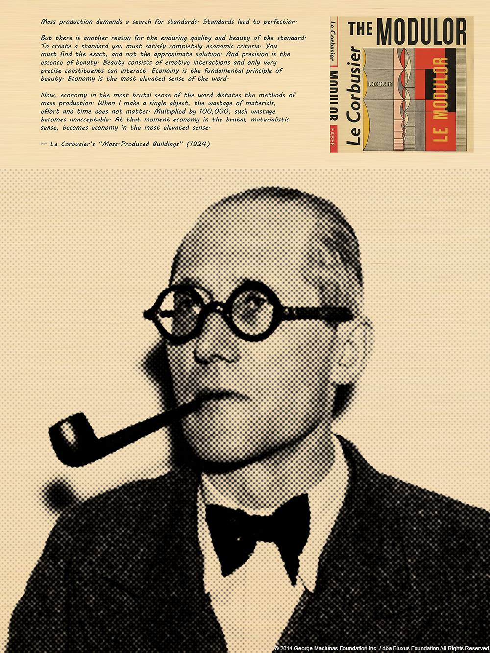 George Maciunas & Le Corbusier_Fluxus Foundation (1)
